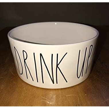 Rae Dunn Magenta Ceramic Pet Bowl Drink Up 6 Inch
