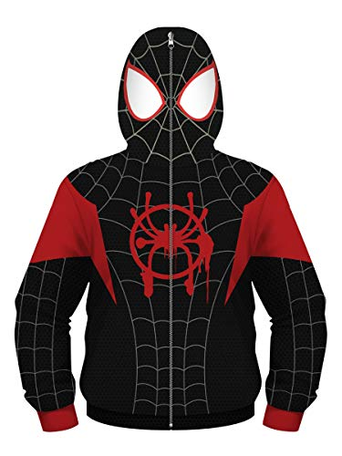 Jungen Mädchen Kapuzenpullover Teens Spiderman Hoodie Kinder Langarm Pulli mit Kapuzen Sweatshirt Pullover(5-6 Years(XS),Spiderman c)