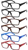 Yogo Vision 6-Pack Reading Glasses for Men and Women – Readers in 4 Frame Colors +2