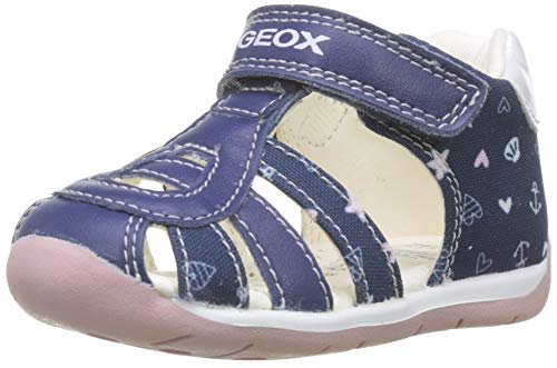 Geox Baby Mädchen B Each Girl C Sandalen, Blau (Navy/Pink C0694), 22 EU