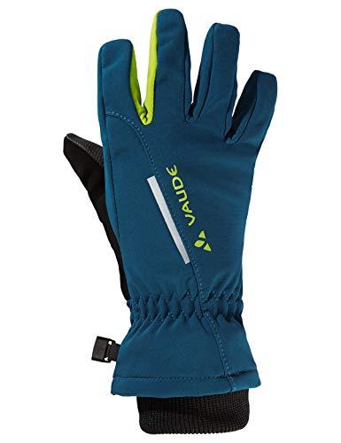 VAUDE Kinder Kids Softshell Gloves Handschuhe, deep Water, 3