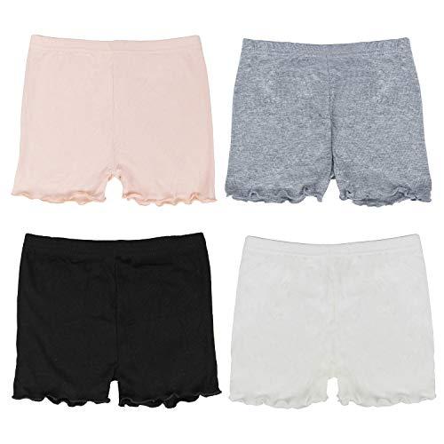 FreeNFond Girls Shorts Under Dress Dance Bike Shorts for Playground Gym Sports (2T-3T)