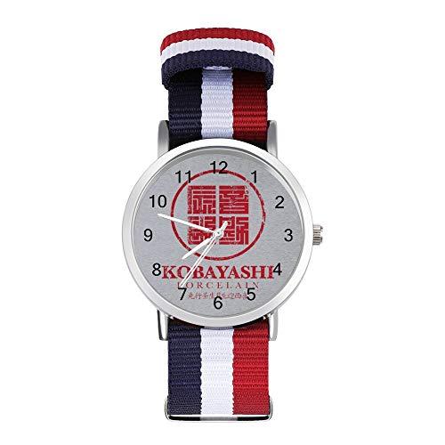 Kobayashi - Reloj de pulsera trenzado, diseño de bloque de porcelana con logotipo de Usual Suspects Leisure Strap