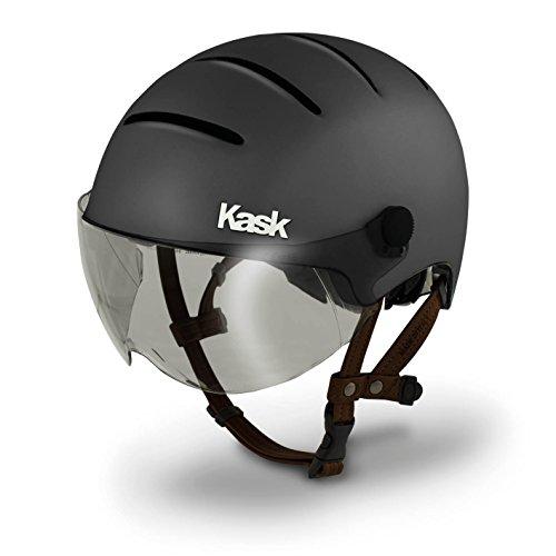 Kask Helm Lifestyle Umfang 59-62 cm Mit Visier, matt anthrazit, L (59-62cm)
