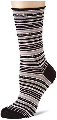 FALKE Damen Origin Stripe Socken, schwarz (Black 3000), 35-38