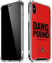 Skinit Clear Phone Case for iPhone X/XS - Officially Licensed NFL Cleveland Browns Team Motto Design