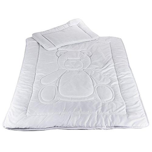 Kinder Bettdecken Set Allergiker Geeignet Steppbett 100x135cm Kissen 40x60cm Öko-Tex Standard 100 Zertifiziert