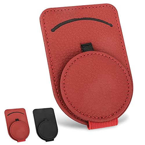 Linkstyle Sunglass Holder for Car Visor,Adsorption Sunglasses Holder Clip for Storing Glasses Card Mask, for Car Visor Accessories(Red)