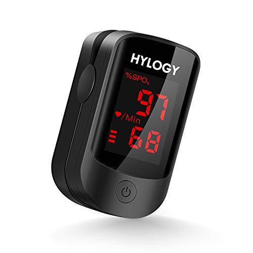 HYLOGY Oxímetro de Pulso, Pulsioximetro de Dedo Profesional saturacion oxigeno oxímetro con...