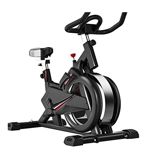Bicicleta estática Verticales (Doméstico Uso Bicicleta de Ejercicio) Bicicleta de Ciclismo Fija con tracción en la Correa/Resistencia Infinita para Gy-M Home Cardio Workout Formning, 250kg
