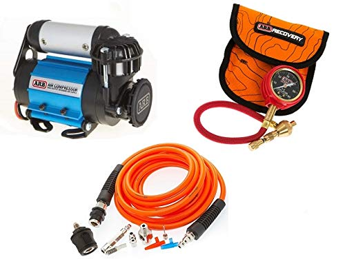 ARB 4X4 Accessories Ultimate Wheeler Pack Hd Air Compressor and Pump Up Kit and E-Z Tire Deflator