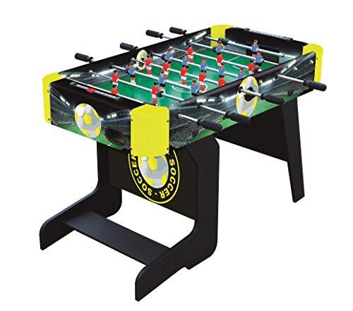 Sun&Sport - Biliardino Pieghevole - Calcio Balilla per Bambini - Piegabile Verticalmente per Salvare Spazio