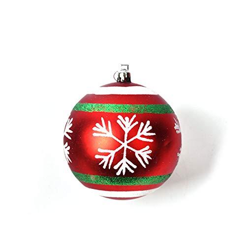 DGSDFGAH Halskette Frauen 1Pcs Süße Schneeflocke Weihnachtsdekorationen Szene Weihnachtsbaum Layout Geschenk Anhänger Halskette Bemalt Wasser Tropfen Kugel Ornamente