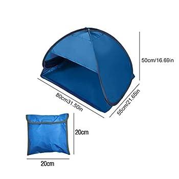 80x50x55cm Tente de Plage Pop Up Anti UV Pliable Protection Solaire Beach Tent avec Sac de Transport pour Visage Lors d'un Bain de Soleil