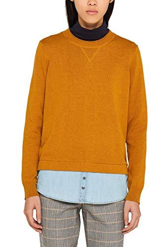 edc by ESPRIT Damen 099Cc1I008 Pullover, Gelb (Amber Yellow 700), XS