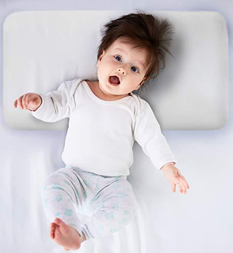 Piccole Tenerezze cuscino Plagiocefalia para neonato anti testa piatta con memoria y certificato medico, traspirante anallergico anti acaro , made in UE, marca CE 50 x 26 cm