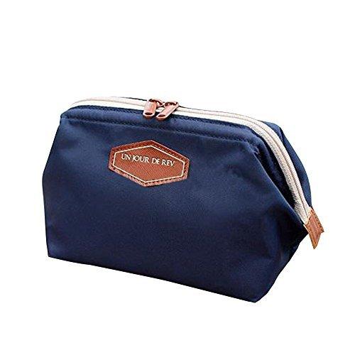 Gearmax® Multifunzione sacchetto di trucco della cassa di matita Cosmetic del sacchetto della borsa di tela(Blu chiaro)