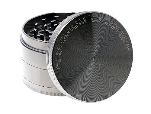 Chromium Crusher Zinc 4 Piece Gunmetal - Herb & Spice Mill/Grinder (2.5')