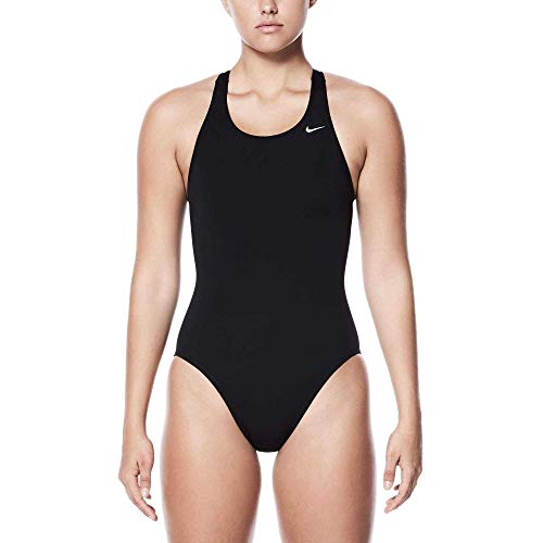 Nike Swim Poly Core Solid Fast Back One Piece Damen Black Größe DE 40 | US 36 2019 Schwimmanzug