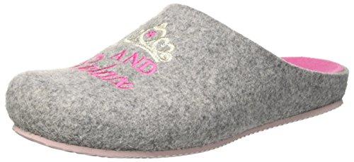 GRÜNLAND Damen CB1542 Pantoffeln, Grigio Grigio Rosa, 39 EU