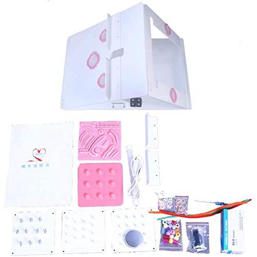 LYWIR Faltbar Laparoskopische Trainer Box Laparoskopisches Simulator-Kit Laparoskopisch Chirurgie Ausbildung Mit 4 Chirurgischen Instrumenten 6 Trainingsmodule Für Die Studentische Ausbildung
