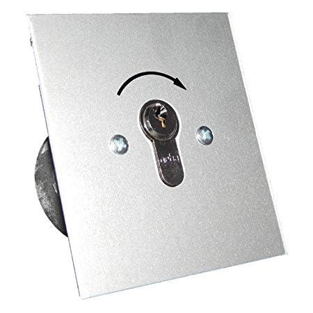 geba Schl/üsselschalter Schl/üsseltaster Aufputz Unterputz mit Rundzylinder IP54 2-Taster Garagentor