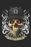 Vaping Skull - Vape On: Blank Lined Notebook for Vaper and Steamer