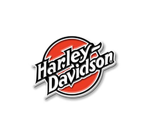 HARLEY-DAVIDSON Retro Anstecker Pin Sammlerstück Emaille Tankstellenmotiv