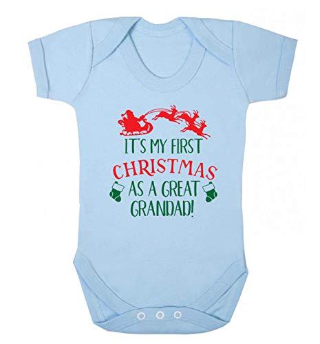 Flox Creative Baby Gilet First Christmas Great Grandad - Bleu - 2 Mois