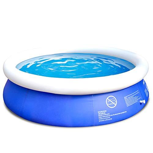 TXDY Aufblasbarer Swimmingpool für Kinder, Runde 180x73cm Boden Pool Schwimmen Spielzeug Schwimmen Eimer, Outdoor Indoor Garten Schwimmen Paddeln Familie Outdoor