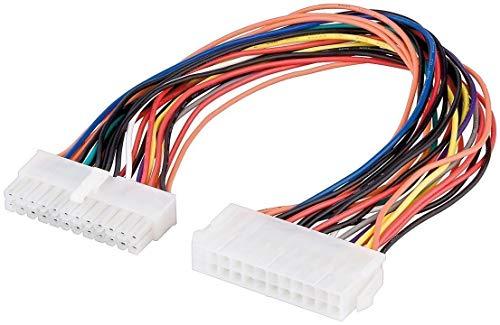 PerfectHD PC Mainboard VerlangerungVerbindungskabel ATX Stecker 24 polig zu ATX Buchse 24 polig