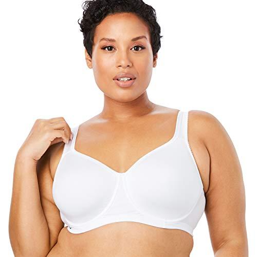 Comfort Choice Women's Plus Size Unlined Underwire Bra - 38 DD, White