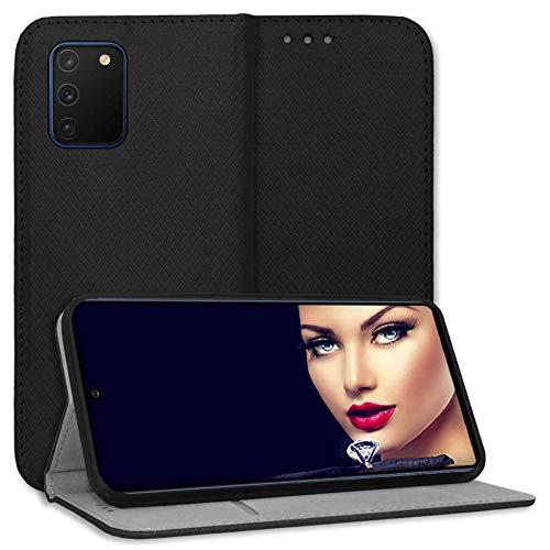 mtb more energy Funda Bookstyle para Samsung Galaxy S10 Lite (SM-G770, 6.7'') - Negro - Cuero sintético - Carcasa Estuche Wallet Case Cover