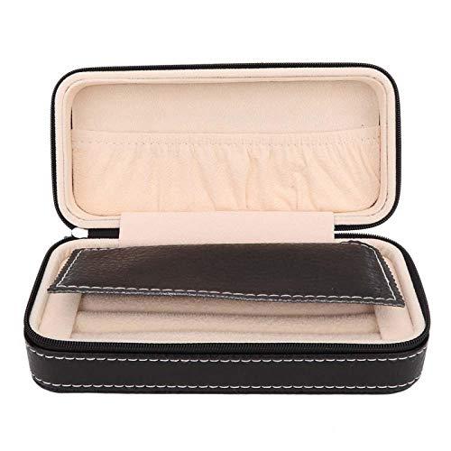 Caja de joyería, mini pendientes de piel sintética, caja de almacenamiento de joyas, clip fijo, pendientes, collares, pulseras, tocador, almacenamiento