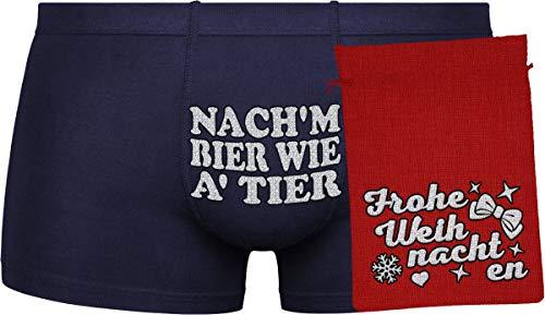 nach'm Bier wie a' Tier | zufällige Auswahl an Farben (BLAU, ORANGE)| red Bag | Silver''Frohe Weihnachten''