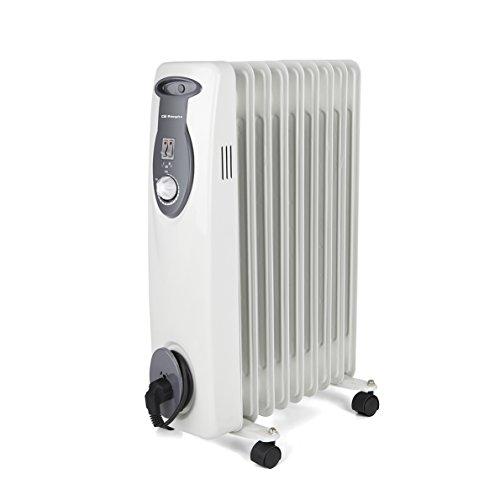 Orbegozo RA 2000 E – Olie Radiator, 2000 W Power, Modulaire Bouw 9 Elementen en Wit Ontwerp