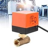 Elektrisches Ventil, motorisiertes Messingkugelventil AV220V für Öl-Wasser-Gas IP65 6W 2.5Mpa(DN20-2 AC220V)