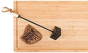 Luckies of London BBQ Branding Iron - Steak Meat Barbecue Stamp with 3 Designs - Grilling Tools and Accessories