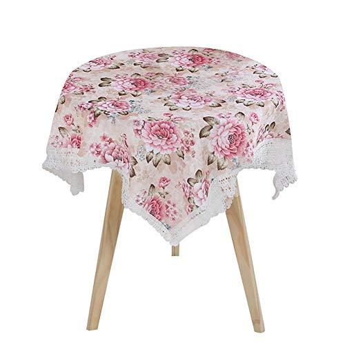 Monbedos 1pcs tafelkleed ornamenten tafelkleed met pioenrozenpatroon tafelkleed vuilafstotend tafelkleed onderhoudsvriendelijk afwasbaar - roze