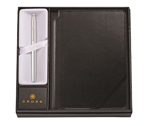 Cross AT0085-108/1 Classic Century Selectip - Penna rollerball con taccuino, set regalo cromato lucido con nero