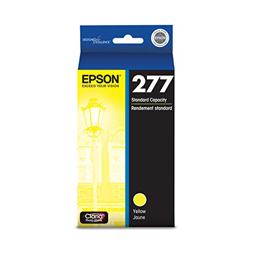 EPSON T277 Claria Photo HD Ink Standard Capacity Yellow Cartridge (T277420) for Select Epson Expression Printers