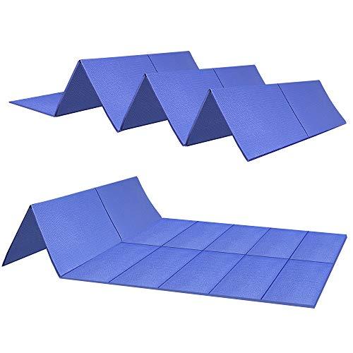 JBM - Esterilla de yoga de alta densidad para pilates, yoga, fitness, yoga, yoga, antideslizante, color rosa, morado, gris en casa y gimnasio, 6 mm de grosor (azul, esterilla de yoga)