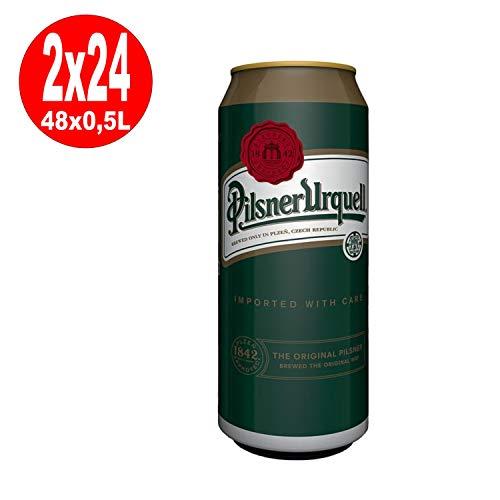 2 x Pilsner Urquell Dosen 24 x 0,5L =48 4,4% Vol EINWEG