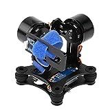 Gimbal de cámara para Drones, Tablero de cardán sin escobillas de Metal BGC 2.2 RC Drone Quadcopter Parte Compatible con GoPro 3/3+/4(Negro)