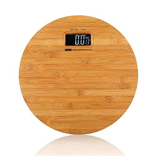 Báscula de pesaje electrónica Digital de Madera Maciza, Weight Watchers Básculas de baño de Alta precisión Ultradelgadas 2 baterías alimentadas