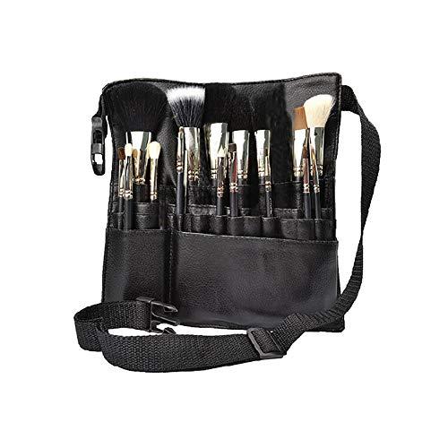 1PC PU Leder Make-up-Pinsel TaillenBeutel tragbare Kosmetik-Pinsel Holder-Organisator mit Künstler Gürtel (entfalten)