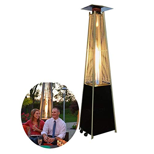 Outdoor Heater Patio, Outdoor Liquefied Gas Heater Independent Pyramid Terrace Heater for Restaurants, Bars, Villa Courtyards