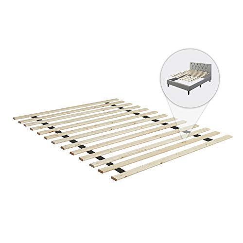 Continental Mattress 0.75-Inch Standard Mattress Support Wooden Bunkie Board/Slats, Twin Size