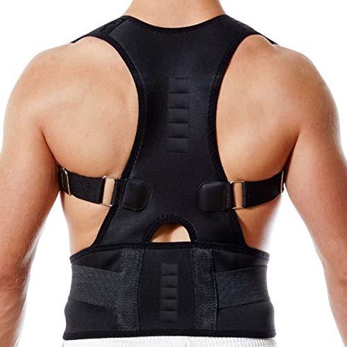 Jinxuny Postura magnética ajustable Corrector de espalda Brace , Corrector de postura trasero Magnético Postura ajustable Brace Soporte de espalda Soporte de cinturón Respirable Dolor de espalda Corre