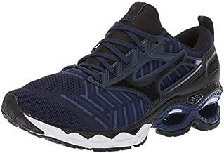 Mizuno mens Wave Creation 20 Knit Running Shoe, Dress Blue-black, 9.5 US